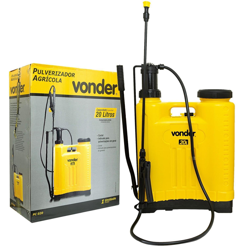 Pulverizador Costal Agrícola Manual Pc020 20 Litros Vonder