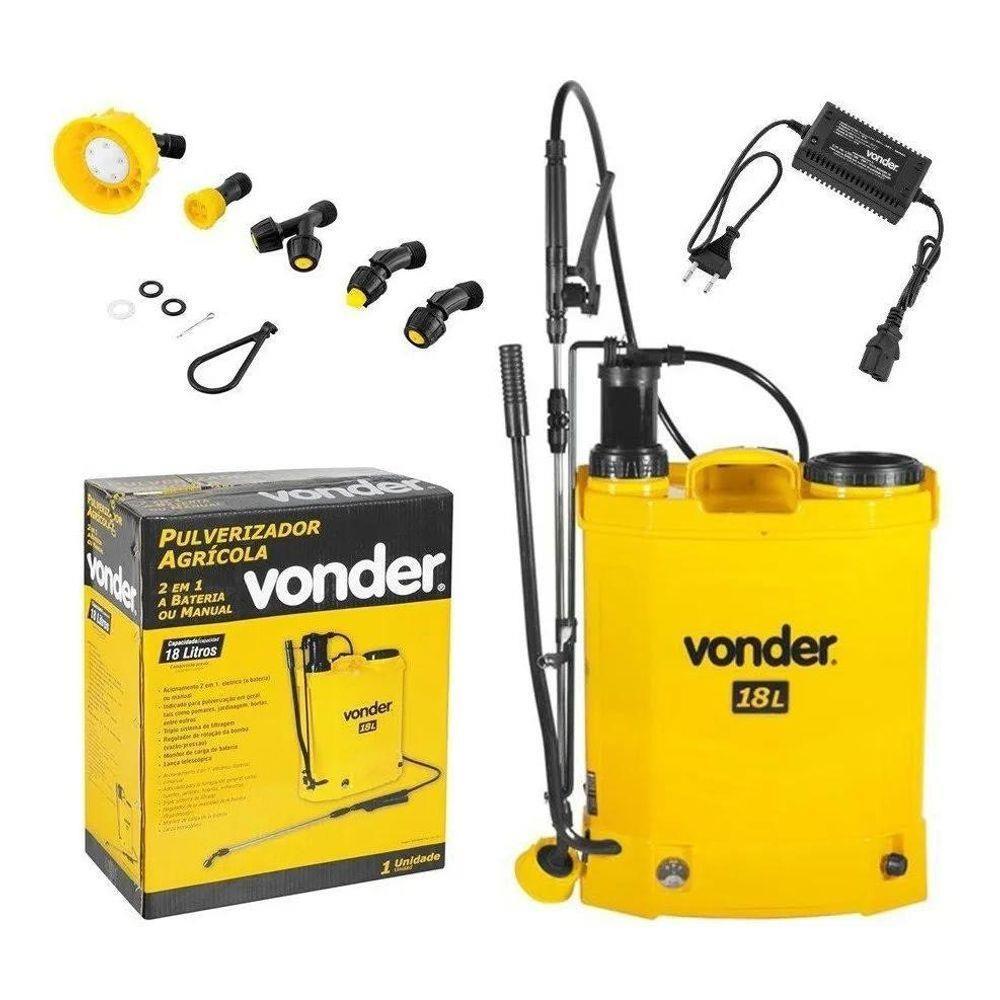 Pulverizador Costal Elétrico Bateria E Manual 18 L Vonder