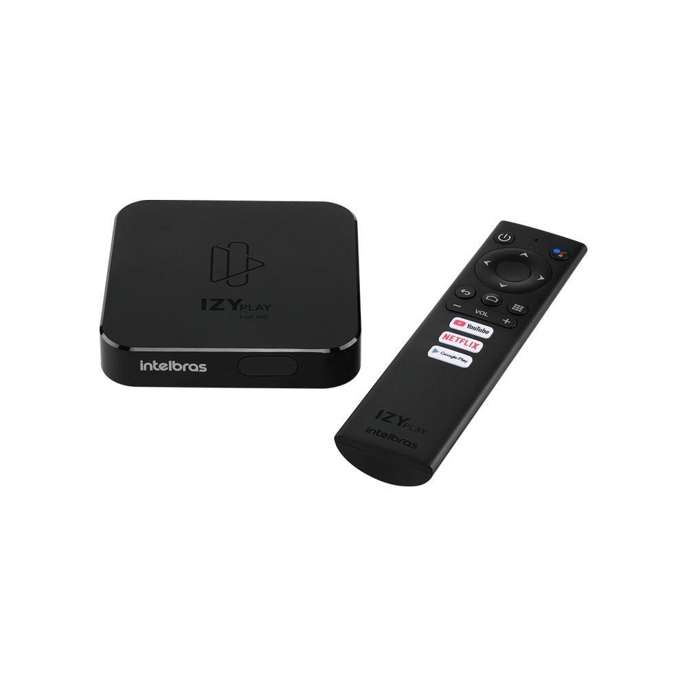 Smart TV Box Android com Assistente de Voz IZY Play Preto
