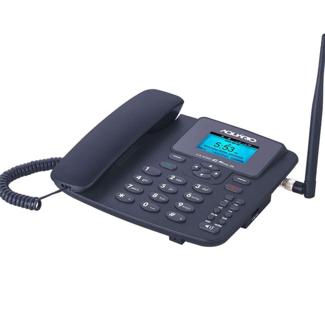 Telefone Celular Fixo De Mesa Com Wifi 4G CA-42SE - Aquário