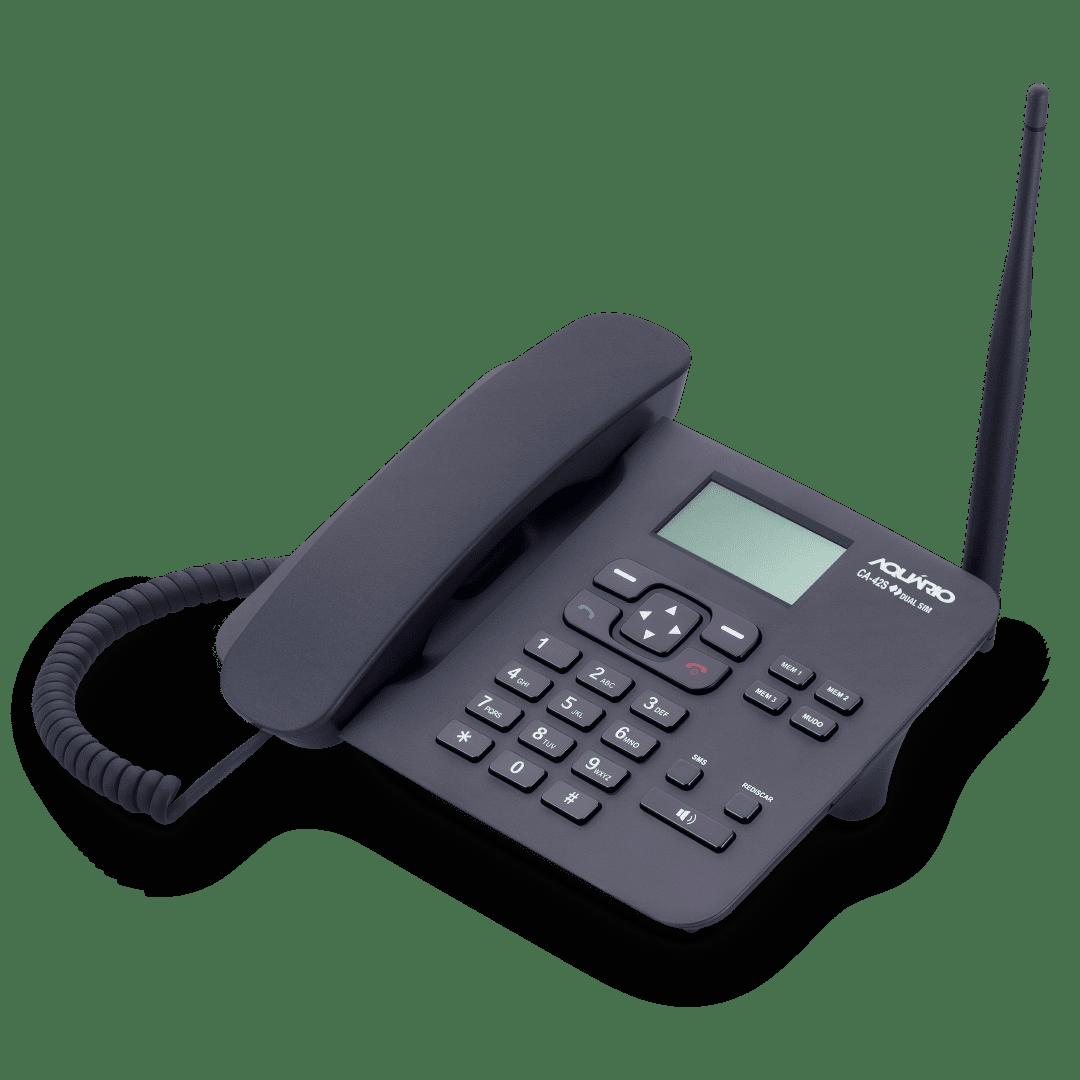 Telefone Celular Fixo Rural de Mesa 2 Chip CA42S Aquário