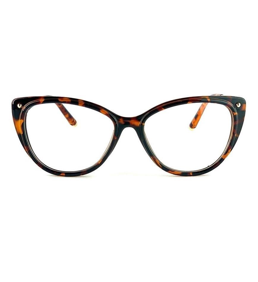 Armação para óculos de grau gatinho em tartaruga