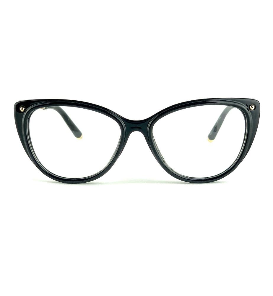 Armação para óculos grau gatinho preto