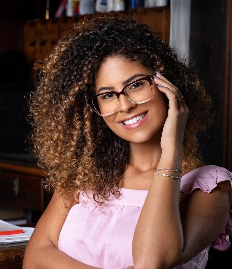 Armação para óculos de grau quadrado duo