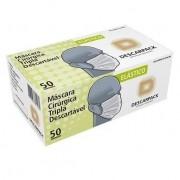 Mascara Descartavel Tripla Proteção com elástico - Descarpack - CX 50 UNID