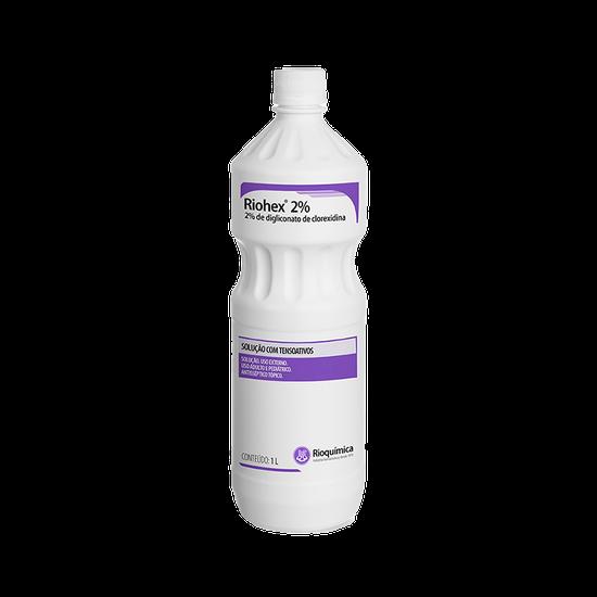 Antisséptico Riohex 2% - (Clorexidina) Solução Dergemante 1L