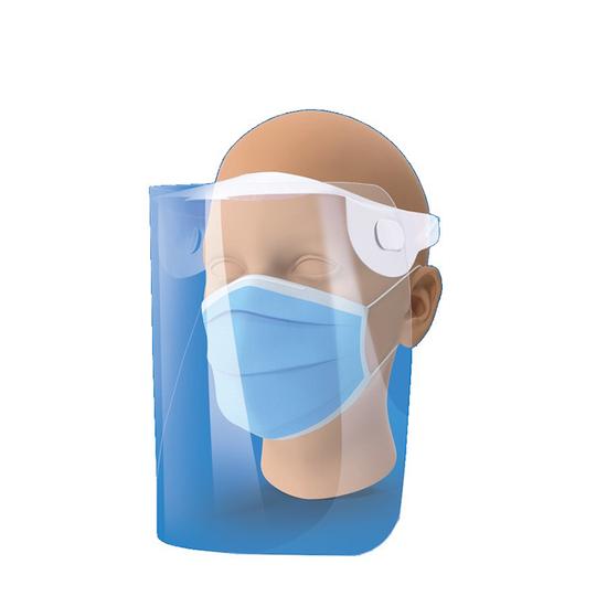 Protetor Facial Transparente em Pet com Elástico