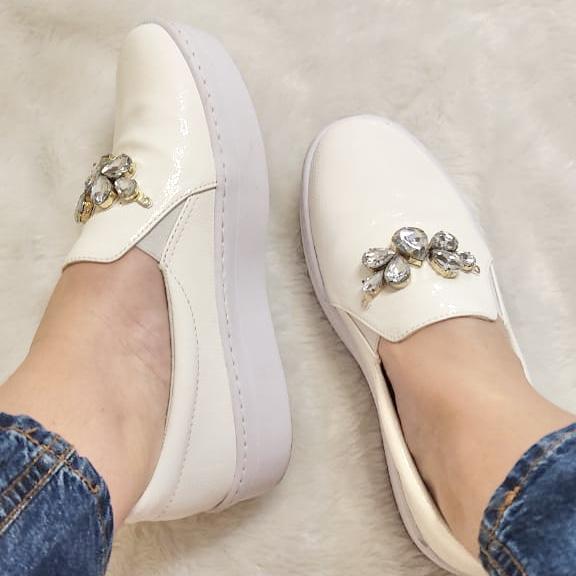 Slip-on White Pedraria