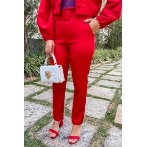 Calça Alfaiataria - Vermelha