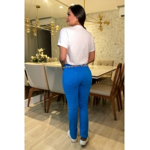 Calça Skinny - Azul