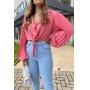 Camisa Manga Plissada - Rosé