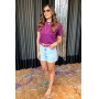 Cropped Nicolle - Roxo
