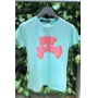 T-Shirt Keep Going - Verde Menta