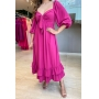 Vestido c/Laço - Pink