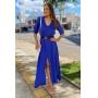 Vestido Chemise - Azul Bic