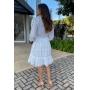 Vestido Curto Luana Manga Longa - Off White