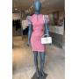 Vestido Curto Manga Bufante - Rosé