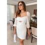 Vestido Curto Renda - Off White