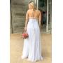 Vestido de noiva Off White. Para casamento diurno e noturno, campo ou na praia.