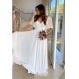 Vestido de noiva Off White. Para casamento diurno e noturno, civil, no campo ou na praia.