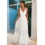 Vestido de noiva Off White. Para casamento no civil,  no campo ou na praia.