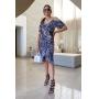Vestido Estampa Onça - Cinza