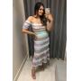Vestido Isabel - Tricolor/Tiffany