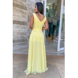 Vestido madrinha de casamento Amarelo. Para casamento noturno e diurno, no campo ou na praia.
