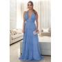 Vestido madrinha de casamento Azul Serenity. Para casamento diurno e noturno, no campo ou na praia.