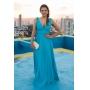 Vestido madrinha de casamento  Azul Tiffany. Para casamento diurno e noturno, no campo ou na praia.