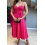 Vestido madrinha de casamento Rosa Pink. Para casamento noturno, no campo ou na praia.