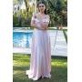 Vestido madrinha de casamento rosé. Para casamento diurno e noturno, no campo ou na praia.