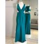 Vestido madrinha de casamento Verde. Para casamento noturno.
