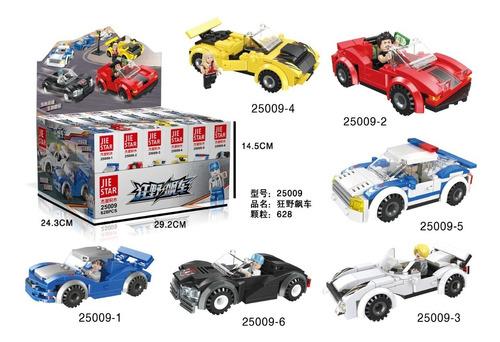 Blocos De Montar Cidade Carros -629 pçs 6 Modelos de Carros - 25009
