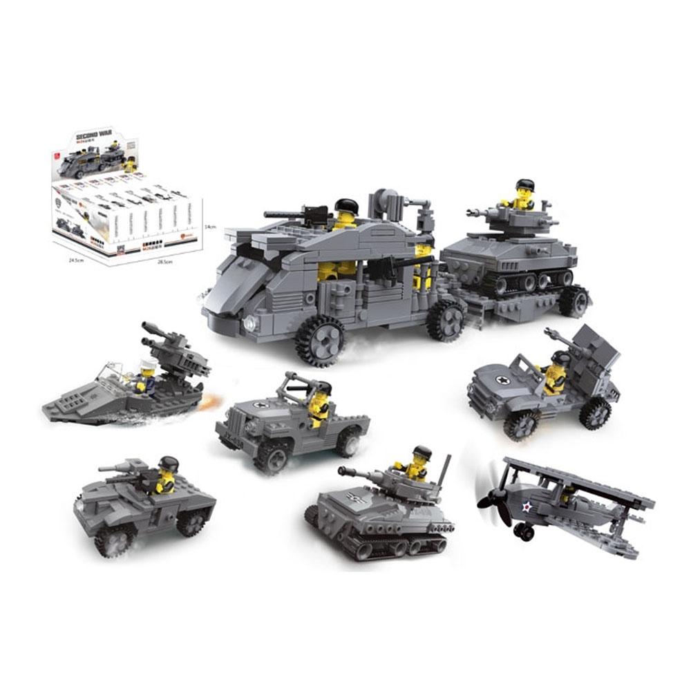 Blocos De Montar Exército - 6em1 Sortidos - 23058