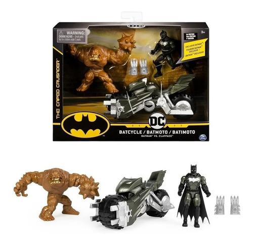 Boneco Batman Dc Batcycle Vs Clayface - Sunny 2184