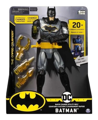 Boneco Dc Batman Com Luzes E Sons 30 Cm Sunny 2181