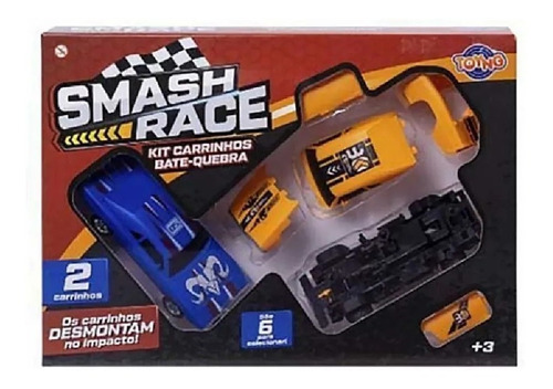 Brinquedo Kit Carrinhos Bate E Quebra Smash Race  41843 Toyng