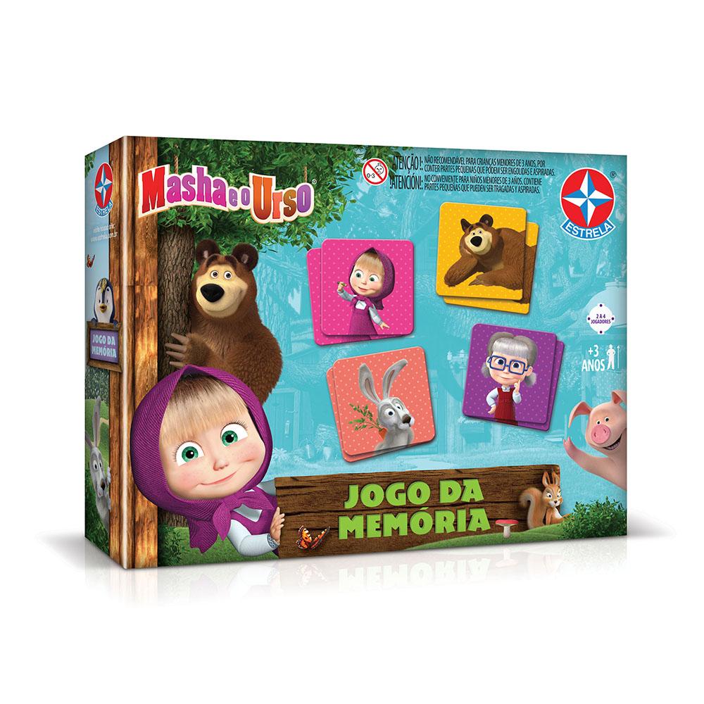 Jogo da Memória Masha e O Urso - Estrela