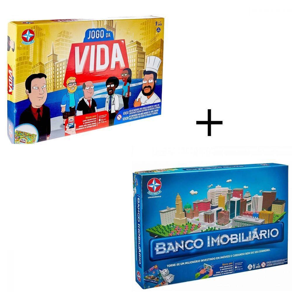 KIT JOGO DA VIDA + BANCO IMOBILIARIO ESTRELA ORIGINAL