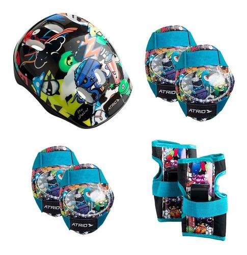 Kit Proteção Infantil Patins Skate Bicicleta Rollers - Azul ES200