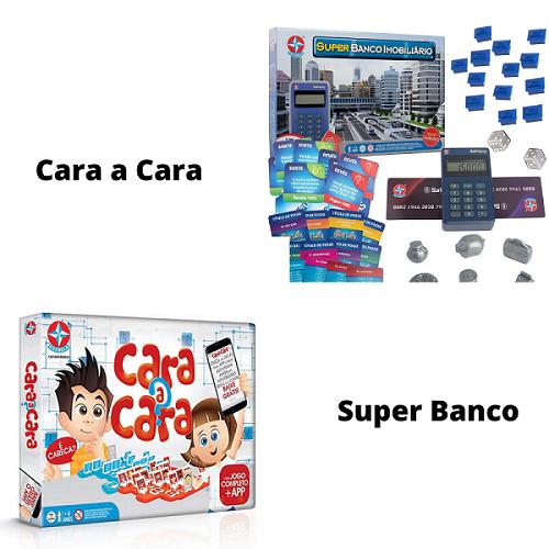 Kit Super Banco imobiliário + Cara a Cara Estrela
