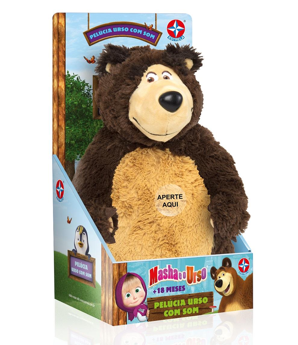 Pelúcia Urso do desenho Masha e o Urso 40CM Estrela