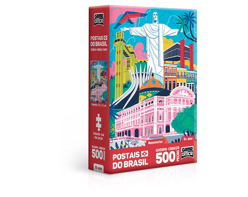 QUEBRA CABEÇA POSTAIS DO BRASIL MONUMENTOS 500PÇS G.OFFICE