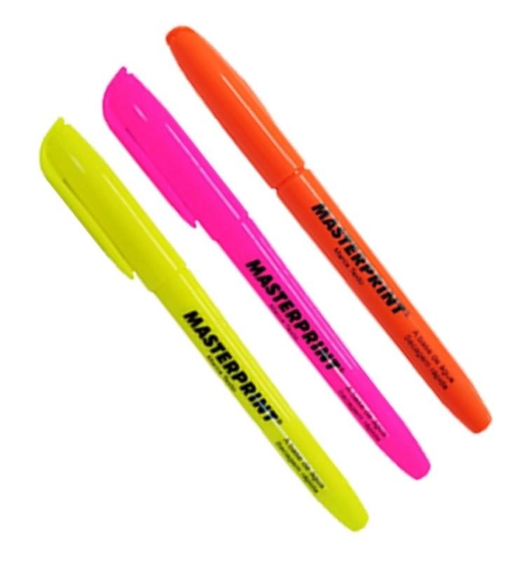 Kit Marca Texto cores vibrantes | 3 cores | 3 Un