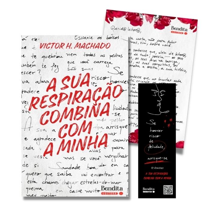PRÉ-VENDA - A Sua Respiração Combina Com a Minha + carta autografada!   Victor H. Machado