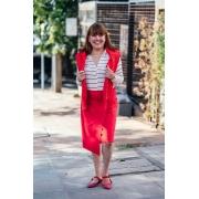 Camisa Tricot Listras Vermelhas
