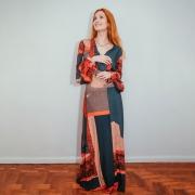 Vestido Longo Morena Rosa Viscose