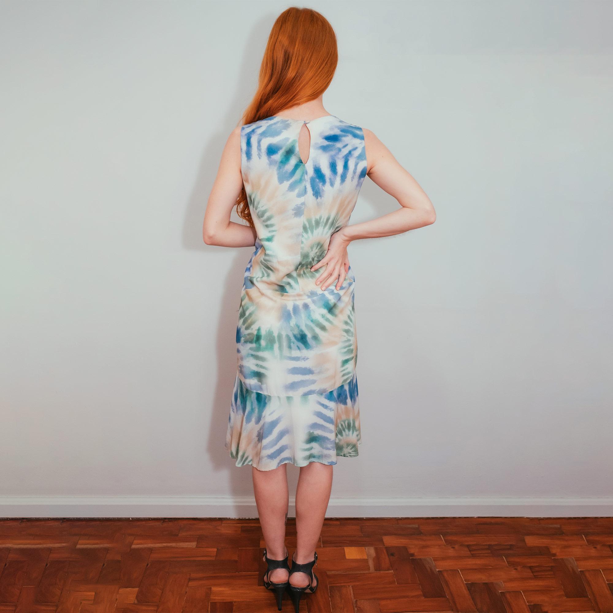 Vestido Tie Dye Fil Dell Art