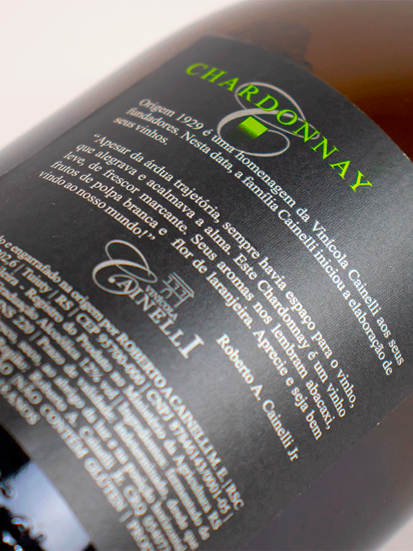 Vinho Vinícola Cainelli Origem 1929 Chardonnay SAFRA 2020